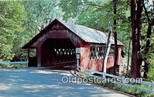 Covered Bridge Vintage Postcard Creamery Bridge Brattleboro, VT, USA 1960