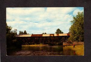 ME Hemlock Covered Bridge Saco River Fryeburg Bridgton Maine Postcard