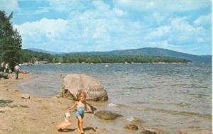 Scenic view on Newfound Lake, Bristol, New Hampshire, 196...