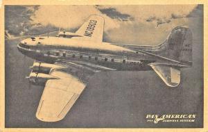 Enroute via Pan American New B-307 Stratoclipper Linen Postcard