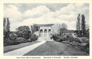 Boulder Colorado University Mens Gymnasium Front View Postcard J51315