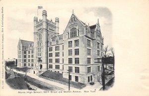 Morris High School Bronx New York City NY 1905c postcard