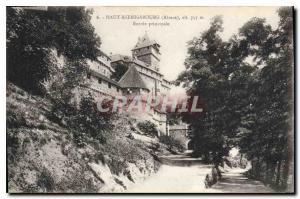 Postcard Old Hochk?nigsburg Alsace main entrance