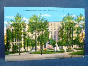 Postcard AL Birmingham Jefferson County Court House
