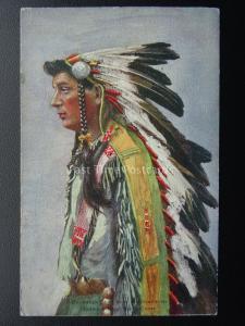 1905 Earls Court Exhibition Indian Village ONONDAGA CHIEF Postcard