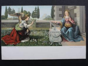 THE ANNUNCIATION by Artist Leonardo da Vinci c1909 Postcard by Misch & Co.1040