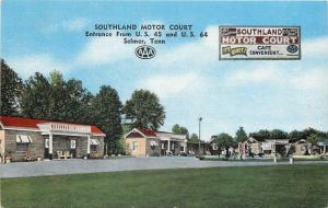 Selmer Tennessee~Southland Motor Court~Balconies~AAA~1940s Postcard