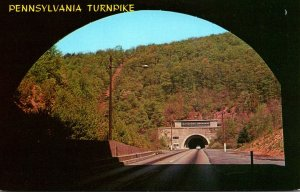 Pennsylvania Turnpike Showing Kittatinny and Blue Mountain Tunnels