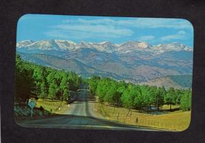 CO Continental Divide Highway Genesee Mountain Denver Park Colorado Postcard