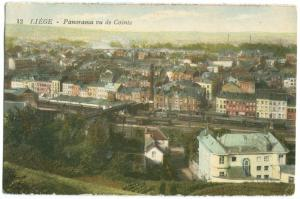 Belgium, LIEGE, Panorama vu de Cointe, early 1900s unused Postcard CPA