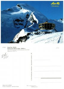 SWITZERLAND Postcard Sass-Fee Mittelallalin - Restaurant Metro Alpin A (A14)