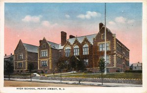 High School, Perth Amboy, New Jersey, Early Postcard
