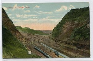 Culebra Cut Construction Panama Canal 1910c postcard