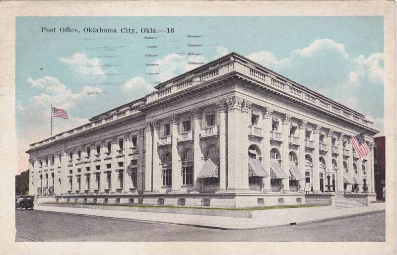 Post Office, Oklahoma City, Oklahoma, PU-1921