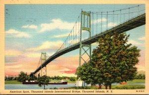 New York Thousand Islands International Bridge American Span 1940 Curteich