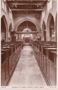 RP: Church Interior , CERNE ABBAS , Dorset , England , 30-40s TUCK