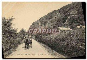 Old Postcard Route Trouville Honfleur Creuniers