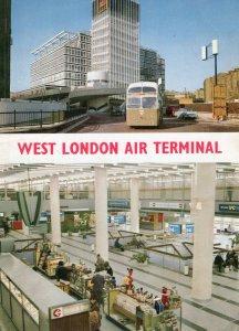 West London Air Terminal Airport Baggage Snack Bar 1980s Postcard