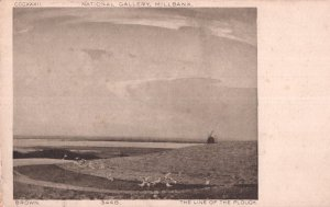 Brown The Line Of The Plough Painting National Gallery Millbank Postcard