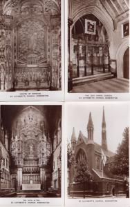 St Cuthberts Church Kensington London 12x Antique Real Photo Postcard s