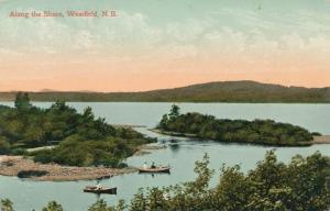 Rowboats along the Saint John River Westfield New Brunswick Canada pm 1910 - DB