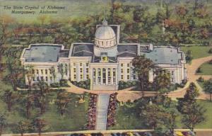The State Capitol Of Alabama Montgomery Alabama 1950