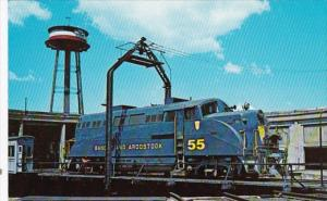 Trains Bangor & Aroostook General Motors Locomotive #55 Near Bangor Maine