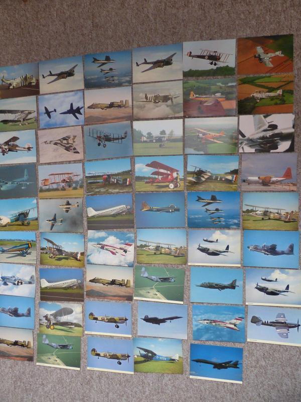 bu0161 - Aviation - Aircraft - Military - 53 postcards ALL Shown