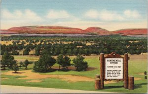 The Great Continental Divide USA Unused Vintage Linen Postcard F15