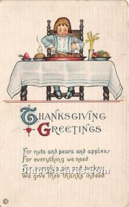 Thanksgiving Greetings Postal Used Unknown