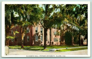 DeLand Florida~Stetson University Campus~Elizabeth Hall~Spanish Moss Trees~1916