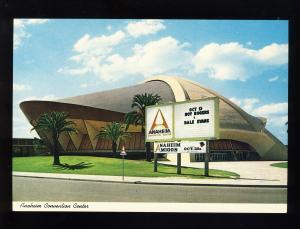 Anaheim, California/CA Postcard, Anaheim Convention Center, Near Mint!