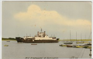 Hampshire; Ferry MV Freshwater At Lymington PPC By Frith, 1964 PMK