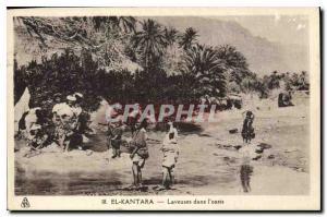 Old Postcard El Kantara Washing Machine in the oasis