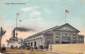 Honolulu Hawaii Alakea Wharf Steamship Vintage Postcard JJ649039
