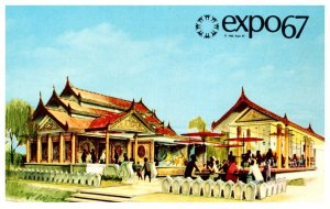 Canada Montral Expo 67 The Pavilion of Burma