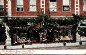 Oregon Portland The Hazelwood Cream Store Washington Street 1908