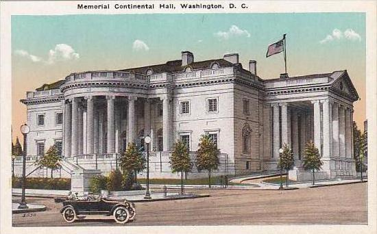 Washington DC Memorial Continental Hall