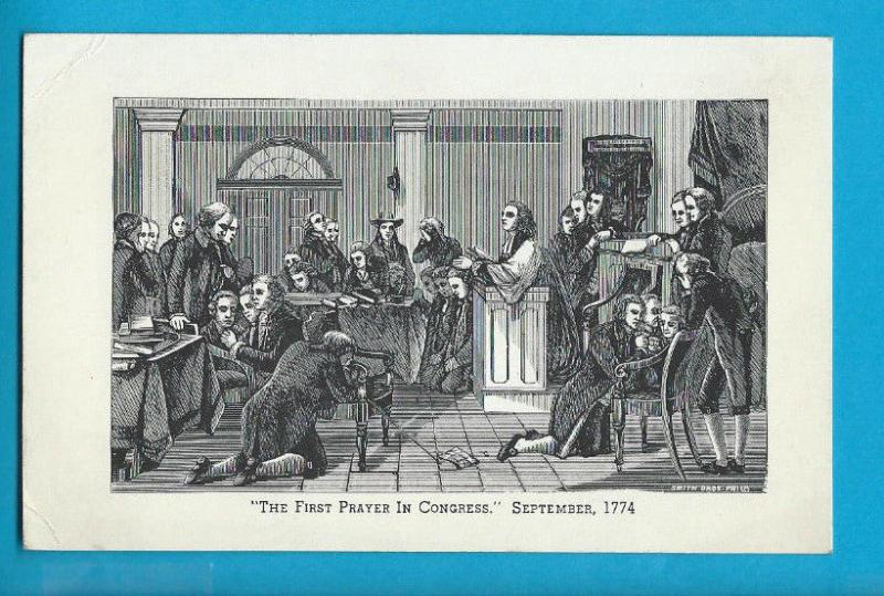 Postcard First Prayer in Congress 1774 Williamson Virginia    # 449