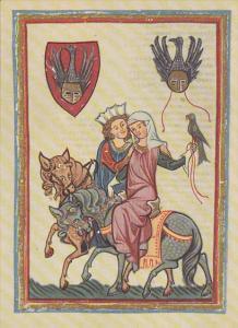 Minnesinger Miniatures Wernher Von Teufen Medieval Art Germany