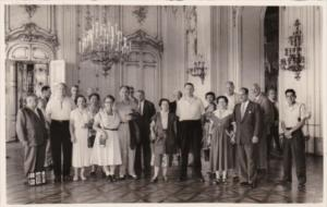 Austira Vienna Schoenbrunn Castle Group Portrait Real Photo