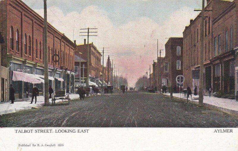 AYLMER , Ontario , 1900-10s ; Talbot Street , Looking East