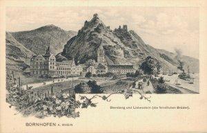 Germany Bornhofen a Rhein Sternberg und Liebenstein die feindlichen Brüder 03.41