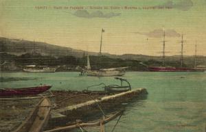 french polynesia, TAHITI PAPEETE, Rade, Arrivée du Cotre Moorea (1910s)