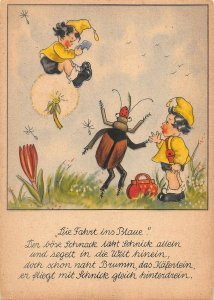 US4804 Entwurf Marg. Palu Children Postcard dwarfs comic