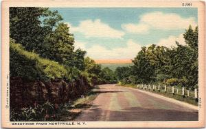 Postcard NY Greetings From Northville New York I3