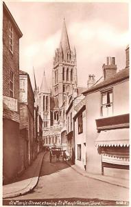 Truro United Kingdom, Great Britain, England St Mary's Street showing St Mary...