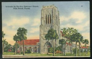 FL Bethesda By-The-Sea Episcopal Church Palm Beach Florida Tichnor Postcard