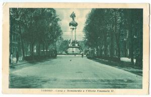 Italy, TORINO, Corso e Monumento a Vittorio Emanuele II, 1936 used Postcard