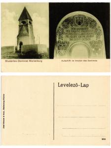 CPA MARIENBURG Studenten-Denkmal Auschrift. ROMANIA (503495)